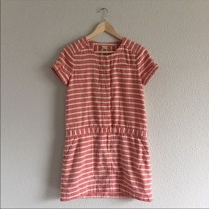 J. Crew Dropwaist Boathouse Pink Shirt Dress